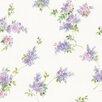 "Norwall Wallcoverings Inc Pretty Prints IV 32.7' x 20.5"" Lilac Sprigs Wallpaper"