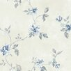 """Norwall Wallcoverings Inc VIntage Damask 32.7' x 20.5"""" Raised Ink Small Trail Wallpaper"""