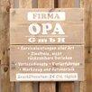 Factory4Home Schild BD-Firma Opa GmbH, Typographische Kunst