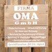 Factory4Home Schild BD-Firma Oma GmbH, Typographische Kunst
