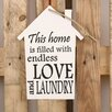 Factory4Home HS-This Home Is Typography Plaque Set in White (Set of 2)