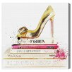 Oliver Gal 'Gold Shoe and Fashion Books' Art Print Wrapped on Canvas