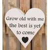 Factory4Home HE-Grow Old with Me Typography Plaque Set (Set of 2)