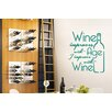 Cut It Out Wall Stickers Wine Improves With Age I Improve With Wine Wall Sticker
