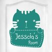 Cut It Out Wall Stickers Personalised Kitty Rabbit Kids Door Room Wall Sticker