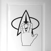 Cut It Out Wall Stickers Star Trek Logo and Hand Door Room Wall Sticker