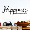 Cut It Out Wall Stickers Happiness Is Homemade Wall Sticker