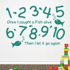 Cut It Out Wall Stickers 1 2 3 4 5 Once I Caught A Fish Alive Wall Sticker