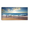 Design Art Sea Sunset Seascape Photographic Print on Wrapped Canvas