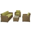 Maze Rattan Milan 5 Seater Sofa Set with Cushions