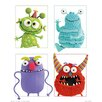 NEXT! BY REINDERS Four Monsters in a Square Wall Décor