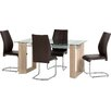 Home Loft Concept Fey Dining Set with 4 Chairs