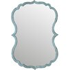 Antiqued Light Blue Wall Mirror