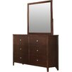 Darby Home Co 6 Drawer Dresser with Mirror