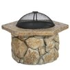 Loon Peak Ryegate Concrete Wood Burning Fire Pit Table