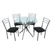 Premier Housewares Kafka Dining Set with 4 Chairs
