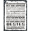 Vintage Boulevard House Rules Textual Art Poster on Wood