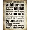 Vintage Boulevard Schöne Momente Typography Plaque