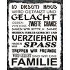 Vintage Boulevard In Diesem Haus Typography Plaque