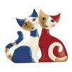 Goebel Ada e Ilia Metal Cats Figurine