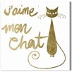 Oliver Gal Mon Chat Graphic Art Wrapped on Canvas