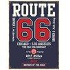Red Hot Lemon Route 66 College Style Vintage Advertisement Plaque