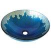 Novatto Diaccio Glass Circular Vessel Bathroom Sink