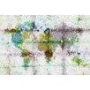 Parvez Taj Color Splash Map Graphic Art Wrapped on Canvas