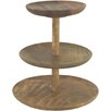 Castleton Home Wooden 3 Tier Cake Stand