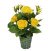 Admired by Nature Artificial Potted Rose Plant with Greenery