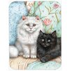 Caroline's Treasures Black and White Cat Glass Cutting Board