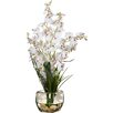 Andover Mills Silk White Orchids in Short Oval Vase