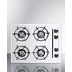 "Summit Appliance 24"" Gas Cooktop with 4 Burners"