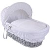 Clair De Lune Vintage Wicker Moses Basket