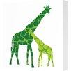 Avalisa Animals Giraffe Graphic Art on Canvas