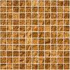 "Susan Jablon 1"" x 1"" Glass Mosaic Tile in Cinnamon Shimmer Brown"