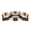 Maze Rattan Half Moon Sofa Set