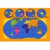 Sintechno World Map Area Rug