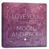 Ready2hangart 'I Love You to the Moon And Back' Framed Textual Art on Wrapped Canvas