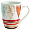 Fairmont and Main Ltd 4-tlg. Kaffeetasse Hearts Stripe