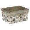 Castleton Home Tobs Willow Medium Storage Basket in White