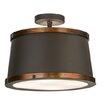Meyda Tiffany Greenbriar Oak Cilindro Reel 4-Light Semi-Flush Mount