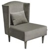 HappyBarok Floxy Plush Wingback Chair