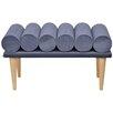 HappyBarok Yoko Upholstered Bedroom Bench