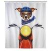 Wenko Biker Dog Shower Curtain