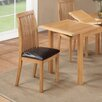 Hazelwood Home Harwich Solid Oak Upholstered Dining Chair (Set of 2)