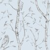 NuWallpaper Woods 5.5m L x 52cm W Floral and Botanical Roll Wallpaper