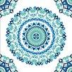 NuWallpaper Jasmine Medallion 5.5m L x 52cm W Geometric Roll Wallpaper