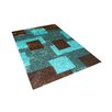Vercai Rugs Shadow Blue/Black Area Rug