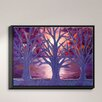 DiaNoche Designs 'Moonlight Whispers' by Jessilyn Park Painting Print on Wrapped Framed Canvas